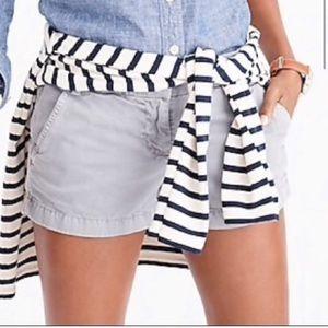 Cute J. Crew grey chino shorts